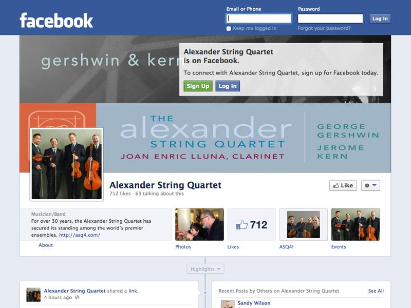 Alexander String Quartet Facebook Page