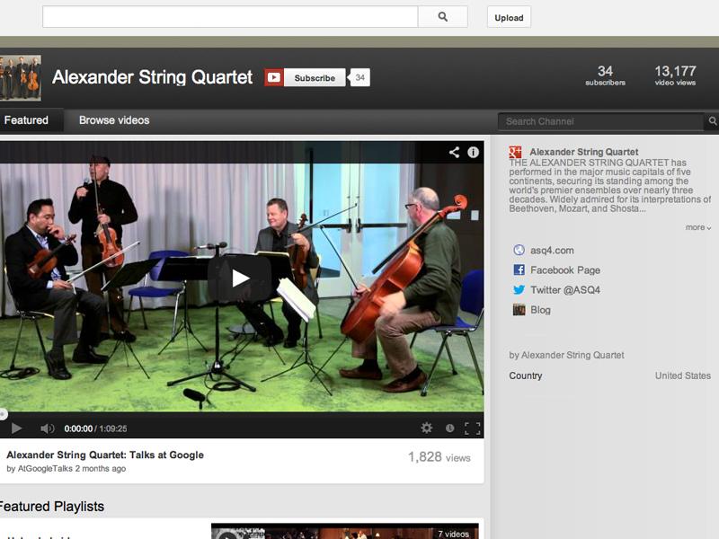 Alexander String Quartet YouTube