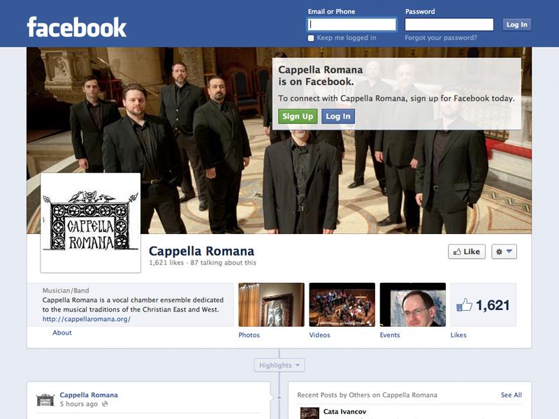 Cappella Romana Facebook Page