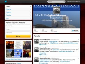 Cappella Romana Twitter