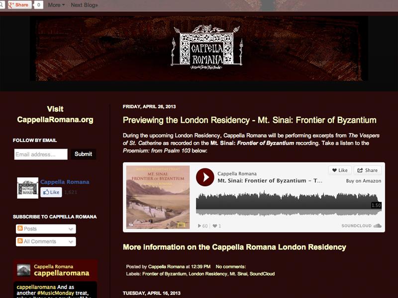 Cappella Romana Blog