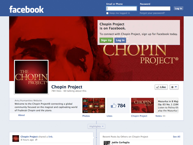 Chopin Project Facebook Page
