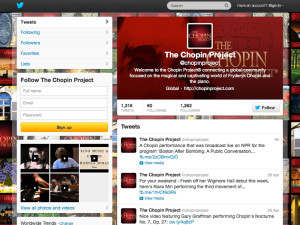 Chopin Project Twitter