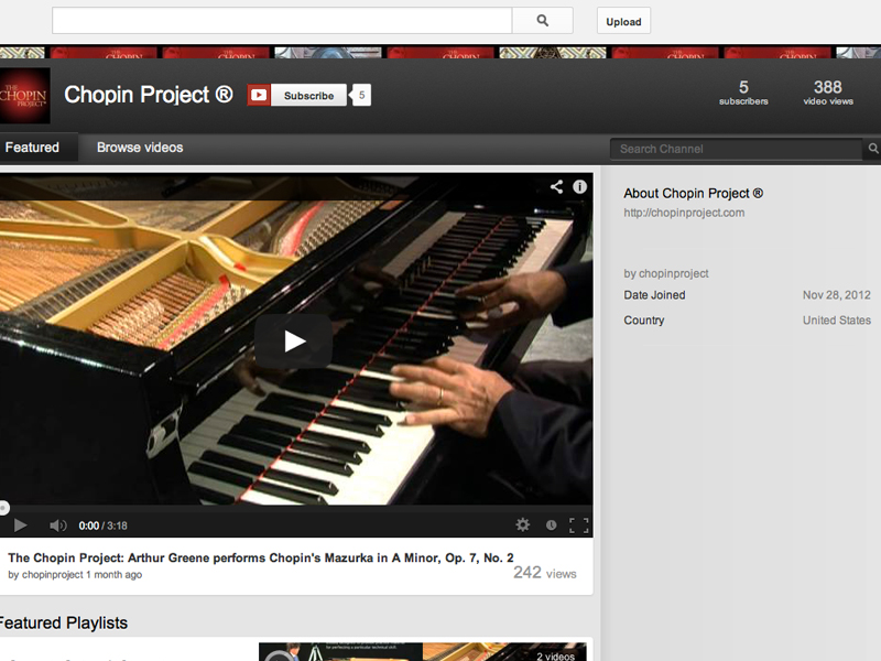 Chopin Project YouTube