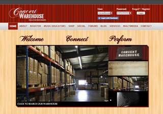 Concert Warehouse | Rosebrook Media Web Design