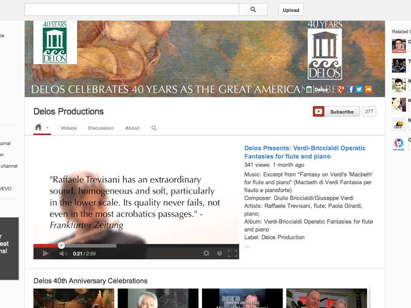 Delos Productions YouTube