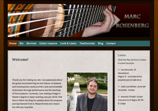 Marc Rosenberg - Guitar | Rosebrook Media Web Design