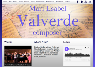 Mari Valverde - Composer | Rosebrook Media Web Design