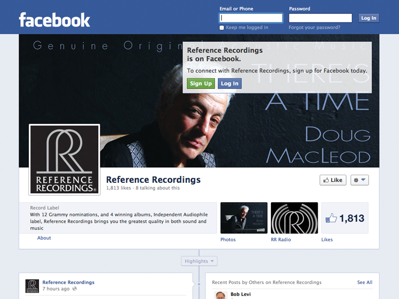 Reference Recordings Facebook Page