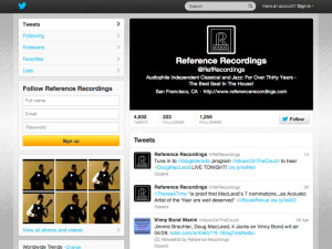Reference Recordings Twitter
