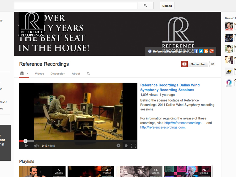 Reference Recordings YouTube