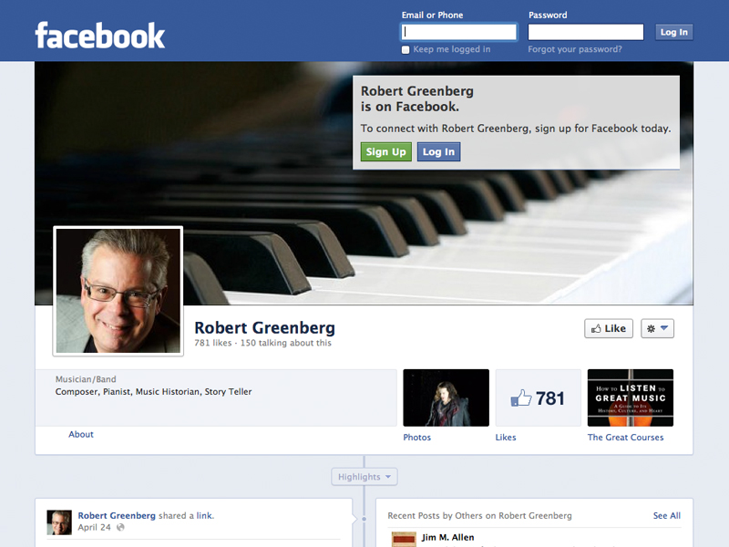Robert Greenberg Facebook Page