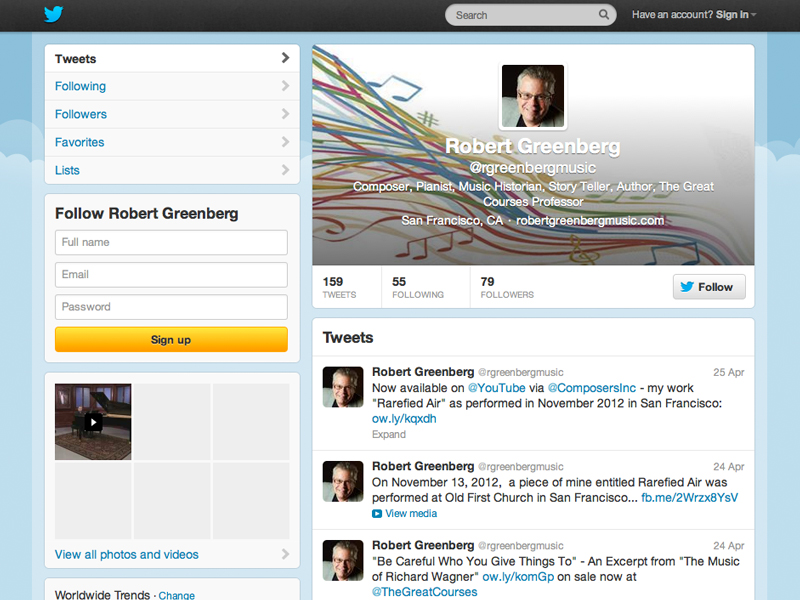 Robert Greenberg Twitter
