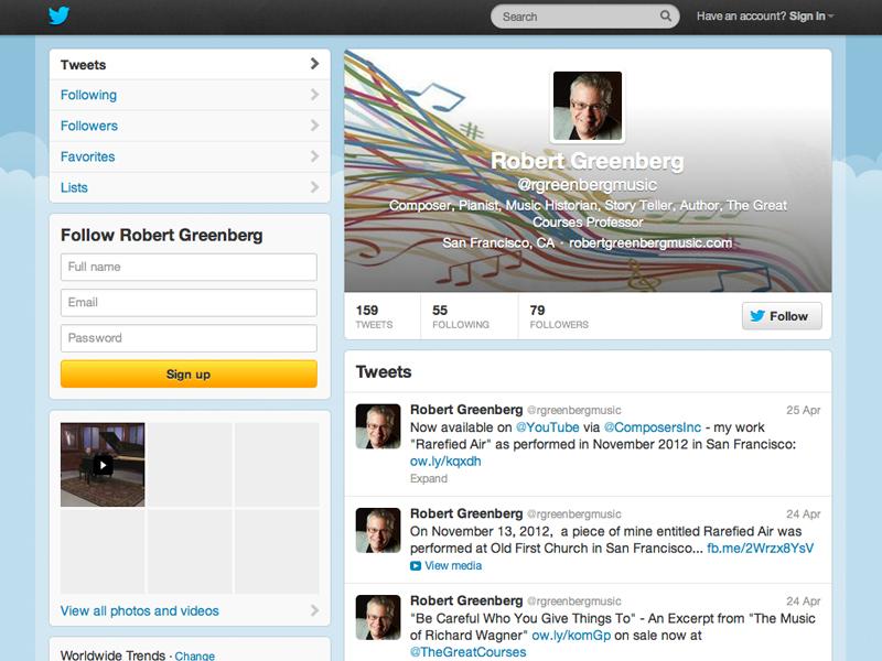 Robert Greenberg Twitter