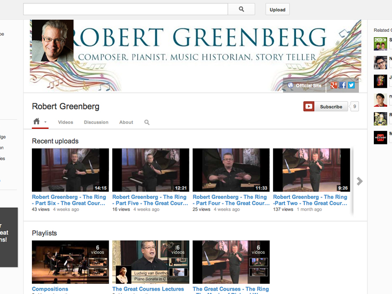 Robert Greenberg YouTube
