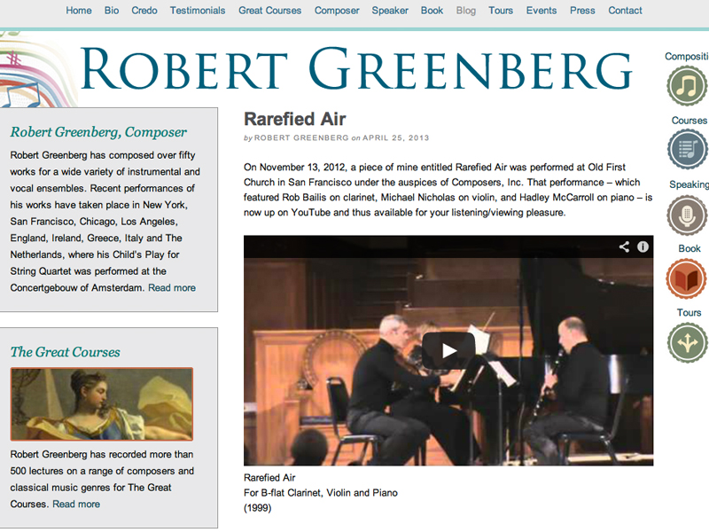 Robert Greenberg Blog