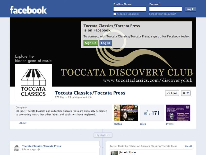 Toccata Classics Facebook Page