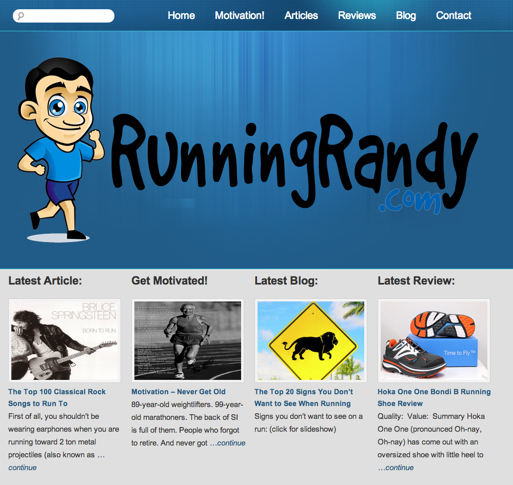 RunningRandy.com | Rosebrook Media Web Design Portfolio