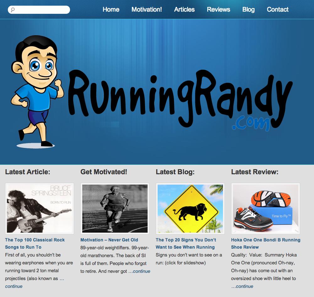 RunningRandy.com | Rosebrook Media Web Design Portfolio