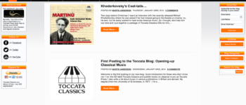 Toccata Classics/Toccata Press Blog