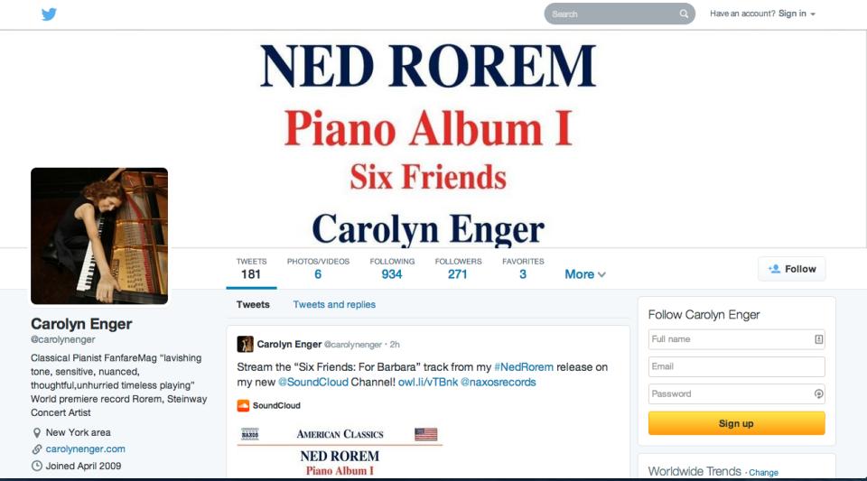 Carolyn Enger Twitter