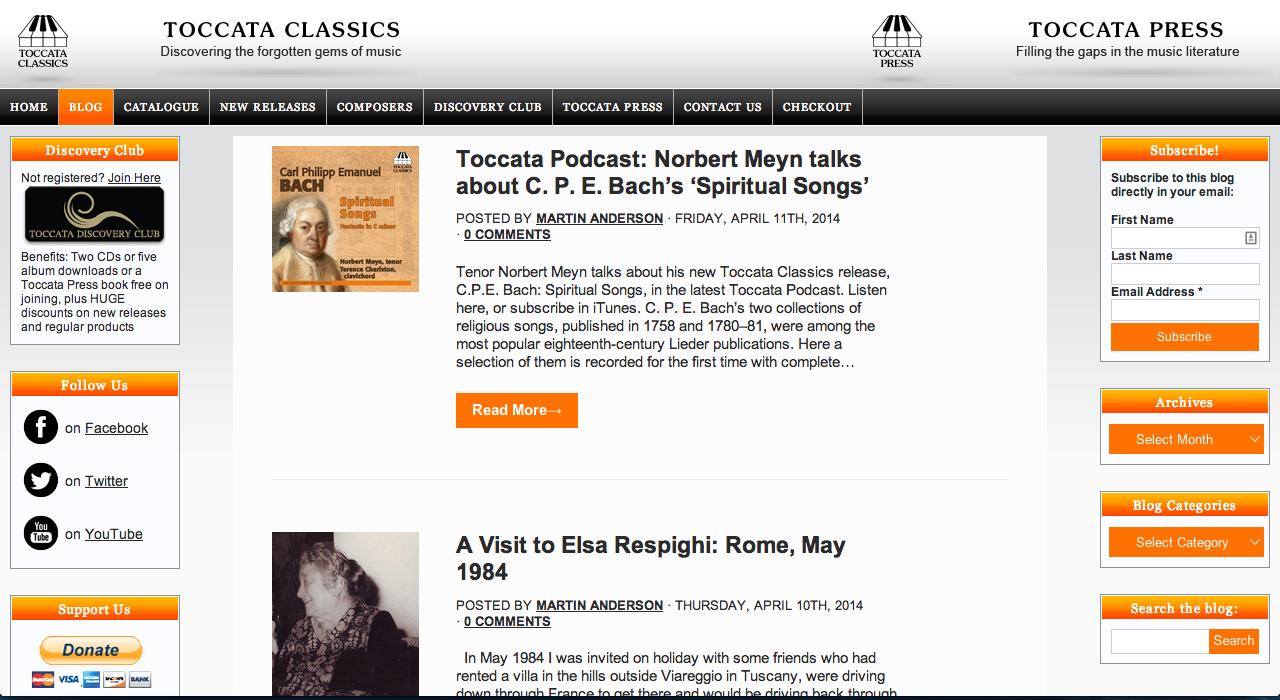 Toccata Classics Blog