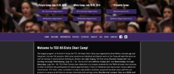 TCU All-State Choir Camp | Rosebrook Media Website Portfolio