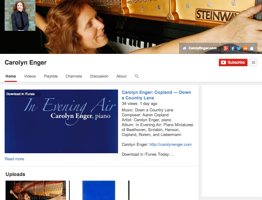 Carolyn Enger YouTube Channel