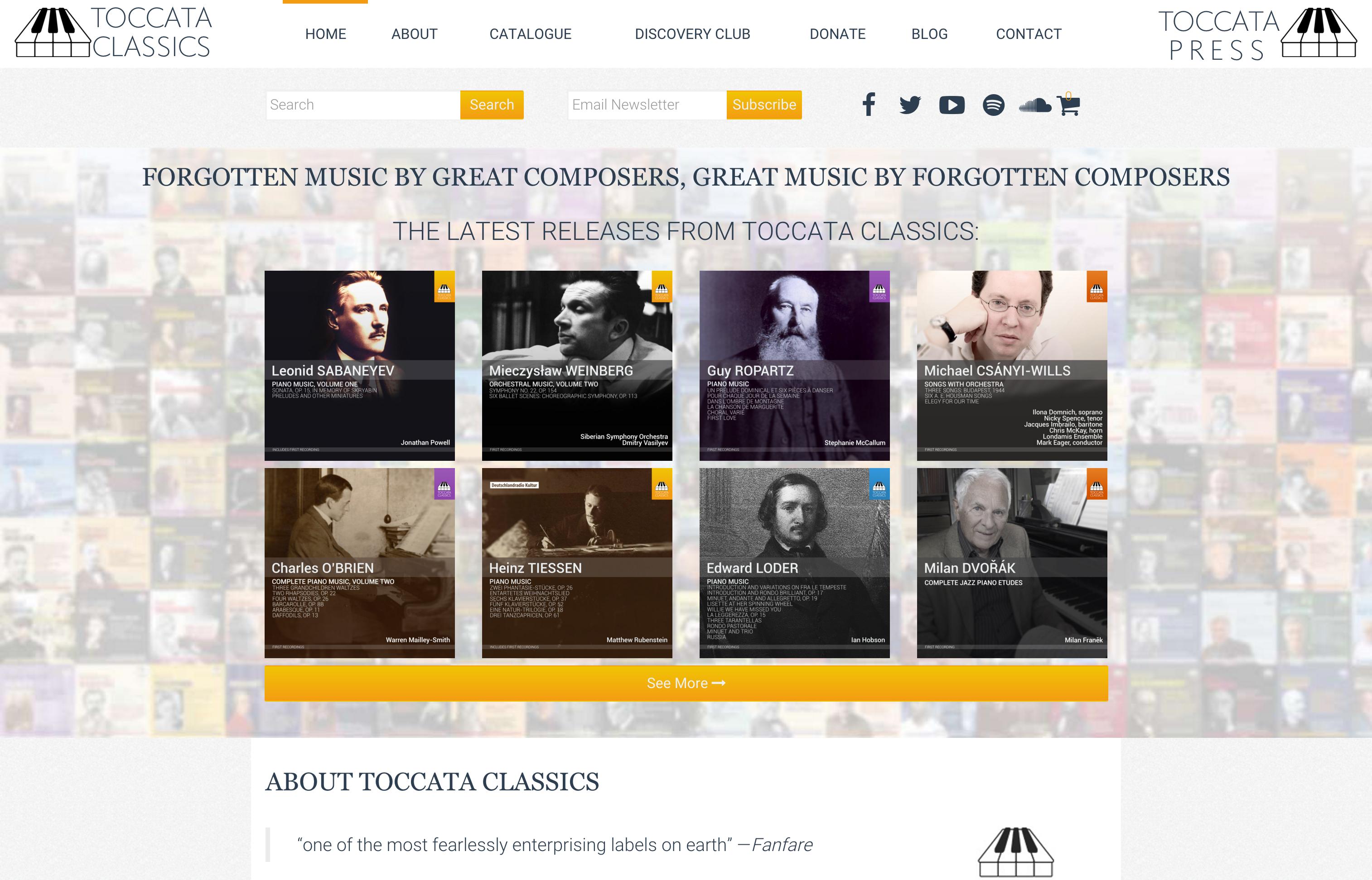 Toccata Classics | Toccata Press